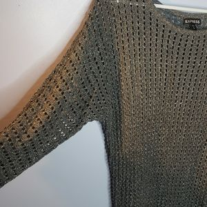 Grey and silver Express sweater